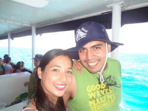 Vacaciones en Cancún. Foto tomada en el Barco rumbo a Playa del Carmen